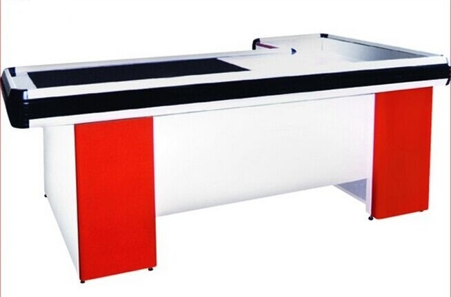 Electric Motor Shopping Mall / Grocery Store Checkout Counters For Retail Stores
