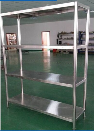 Heavy Duty Shelving Stainless Steel Display Stands , Warehouse Rack System