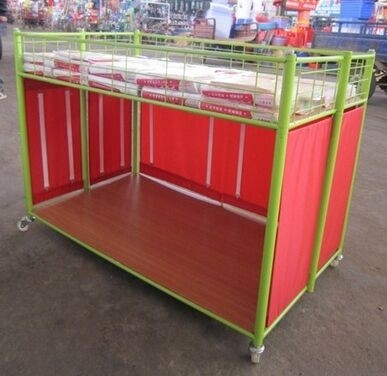 Retail Supermarket Promotion Retail Display Shelving Units / Grocery Store Shelving