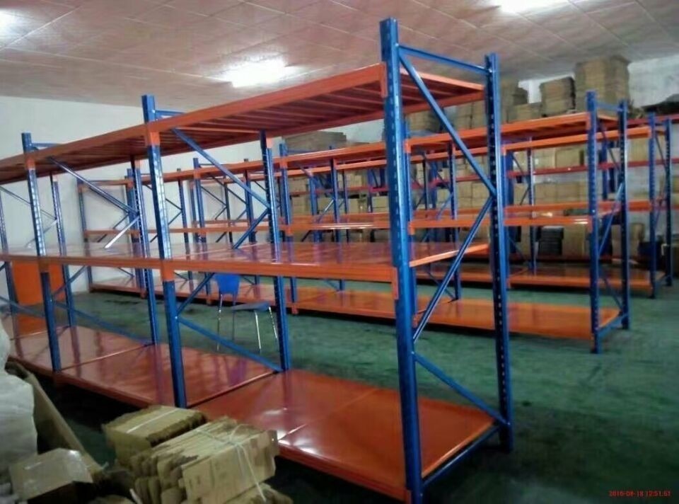 Selective Mold Steel Shelving Warehouse Storage Shelves With Steel Plate
