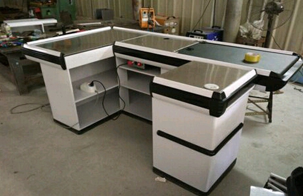 Custom Stainless Steel Table Surface Supermarket Electric Cash Counter